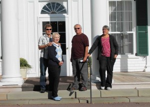 The John Hamilton Gray and the Thomas Heath Haviland descendants posed on the front steps of Fanningbank.