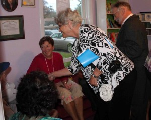Project Genealogist Linda Harding meets the descendants of W H Pope she has researched.